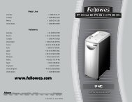 SB-95C Manual-2005 - Fellowes