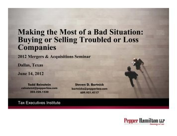 Making the Most of a Bad Situation: Buying or Selling Troubled or ...