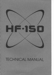 Lowe HF150 Technical Manual - The Listeners Guide
