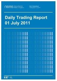 Daily Trading Report 01 July 2011 - EMC - Energy Market Company