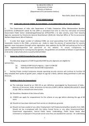 Government of India Ministry of Defence - Directorate General ...
