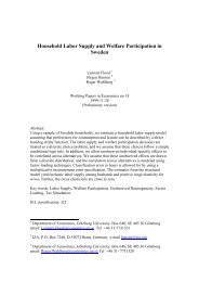Household Labor Supply and Welfare Participation in ... - S-WoPEc