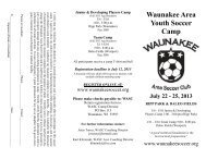 HERE - Waunakee Area Soccer Club