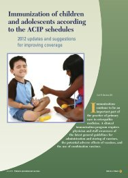 Immunization of children and adolescents according to the ... - CECity