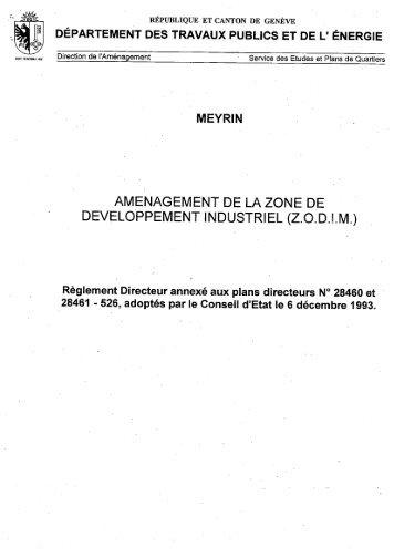 Règlement du plan - Etat de Genève