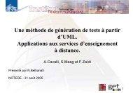 Une méthode de génération de tests à partir d'UML. Applications ...