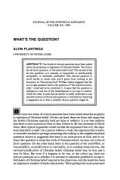 WHAT'S THE QUESTION? - Andrew M. Bailey