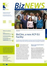 BizClim, a new ACP-EU Facility - ACP Business Climate