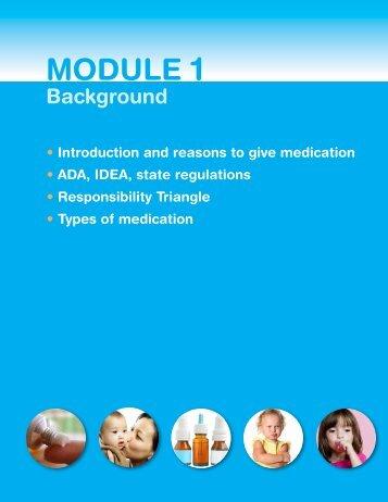 Module 1, Background - Healthy Child Care America