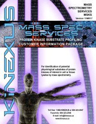 (MSKS) Services Customer Information Package - Kinexus ...