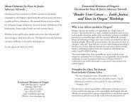 Tax Reform Bulletin Insert - Ecumenical Ministries of Oregon
