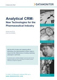 Analytical CRM: new technologies for the ... - Datamonitor