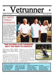 OLYMPIC TORCH RUNNERS - ACT Veterans Athletics Club