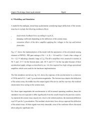 Chapter 6: The Analogue, Closed Loop Accelerometer Page 65 6.3 ...