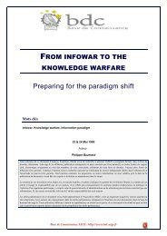 From infowar to the knowledge warfare - Base de connaissance AEGE