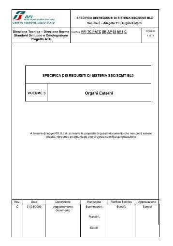 SSB SCMT SSC_SRS_revC_Allegato 11 Organi Esterni - Trenitalia