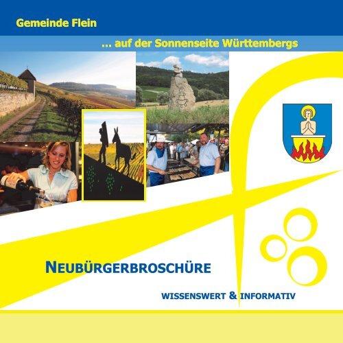 Fleiner Neubürgerbroschüre homepage - Gemeinde Flein