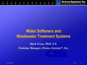 Water Softeners and Wastewater Treatment Systems