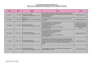 calendario incontri sindacali area del personale non dirigente del ...