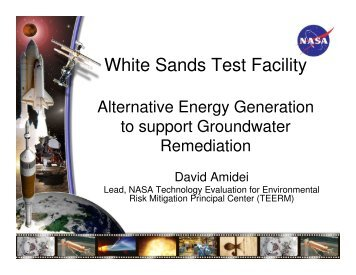 NASA White Sands energy for integrated renewable energy ...