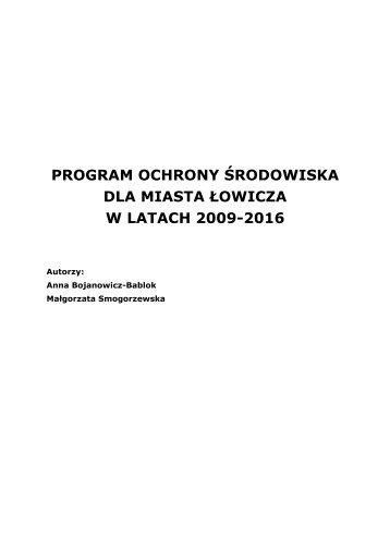 Program Ochrony Środowiska - Łowicz
