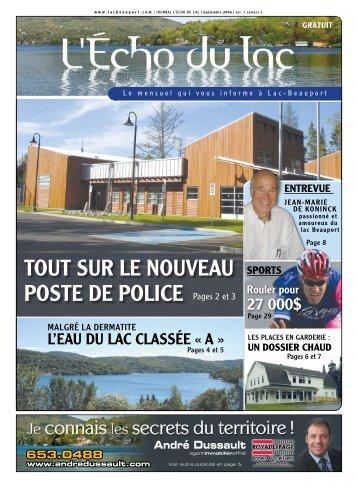 TouT SuR le nouveau poSTe De police Pages 2 et 3 - L'Écho du Lac
