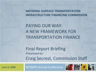 national surface transportation infrastructure financing commission