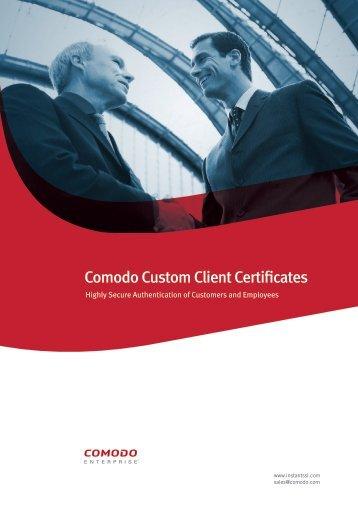 Comodo Custom Client Certificates - SSL Certificate