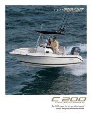 C 200 Center Console - Pursuit Boats