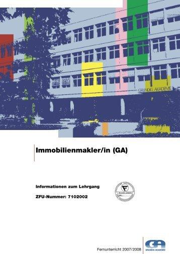 Immobilienmakler/in (GA) - Grundig Akademie