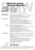 (5 puertas). Manual de 6 velocidades . 17.2 km/lt ... Interfaz - BMW - Page 2