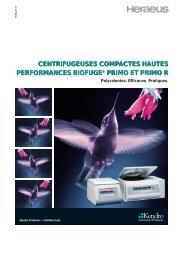 centrifugeuses compactes hautes performances ... - Wenk Lab Tec