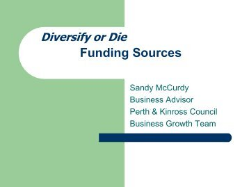 Sandy McCurdy Finance Presentation - Perth College