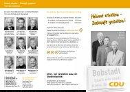 Heimat erhalten - Zukunft ge stalten - CDU Stadtverband Bürstadt