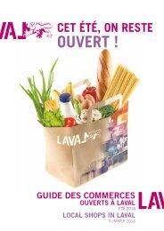 Télécharger le guide des commerces de proximité - Laval