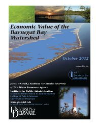 Economic Value of the Barnegat Bay Watershed