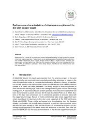 Performance characteristics of drive motors optimized for die-cast ...