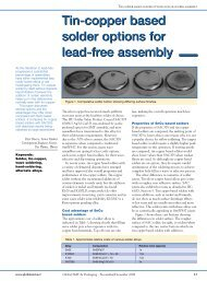 Tin-copper based solder options for lead-free assembly Tin ... - Kester