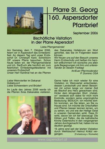 Pfarre St. Georg 160. Aspersdorfer Pfarrbrief - Pfarre Aspersdorf