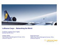 Lufthansa Cargo – Networking the World - Agility