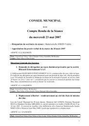 CONSEIL MUNICIPAL - Vélizy-Villacoublay