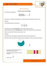 What is a fraction? Numerator → 3 Denominator → 5