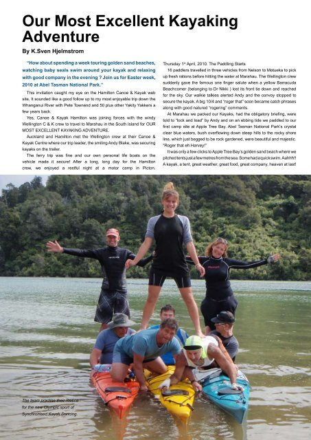 Our Most Excellent Kayaking - New Zealand Kayak Magazine