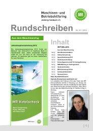 Rundschreiben Nr. 01 | 2012 - Maschinen- und Betriebshilfsring ...