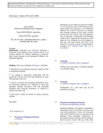 Shewarega v. Yegzaw - Law Clinics