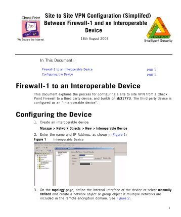 Checkpoint vpn interoperable device