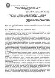 PROPOSTA DE EMENDA À CONSTITUIÇÃO Nº , DE 2009 (Dos Srs ...