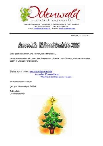 Siehe auch unter: www.tg-odenwald.de Aktueller ... - Neunkirchen