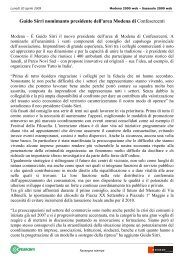 Guido Sirri nomimanto presidente dell'area Modena di Confesercenti