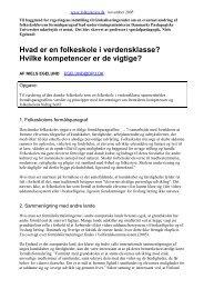 Professor Niels Egelunds oplæg til ... - Folkeskolen
